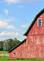 An old red barn. Taken in July in Illinois by Lorlee Servin.