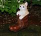 kitty in a boot. Taken 5-17-20 our house by Patti Menster.
