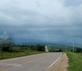 Dark storm clouds form on a highway road.. Taken August 16, 2018 Near La Motte, Iowa by Veronica McAvoy.