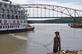 Casting off. Taken August 20, 2014 American Queen in the Port of Dubuque by Nelson Klavitter.