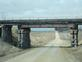 An old pole trussel railroad bridge in use East of Epworth, Ia.. Taken March 2020  East of Epworth, Ia. by Judy Lewis.