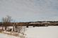 Snowy view of the train bridge and the Mississippi river.. Taken February 15, 2021 Dubuque, Iowa by Veronica McAvoy.