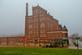 Historic Dubuque Star Brewery Co., in the fog.. Taken November 19, 2019 Dubuque, Iowa by Veronica McAvoy.