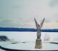 Statue. Taken Winter 2014 Bellevue, IA by the frozen Mississippi River by Merritt Gammage.