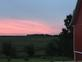 Farm scene at sunset. Taken Aug  15 North of Dyersville, IA by Janet Brunsman.