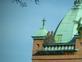 2 Red Tail Hawks. Taken May 31, 2021 St. Patrick's Church Steeple, 1425 Iowa Street, Dubuque by Sandy Shaffer.