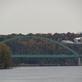 Wisconsin bridge. Taken October 2019 From O'Leary's Lake in Wisconsin by Linda Goodman.