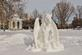 Pegasus snow sculpture.. Taken February 15, 2021 Dubuque, Iowa by Veronica McAvoy.