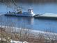 Marquette Transportation on Mississippi River. Taken this Fall from our home by Tom Edmonds.