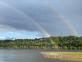Double rainbow. Taken 10/01/2020 Mississippi River in Dubuque IA by Rick Steil.